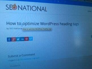 optimize WordPress heading