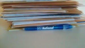Comcast letter pile