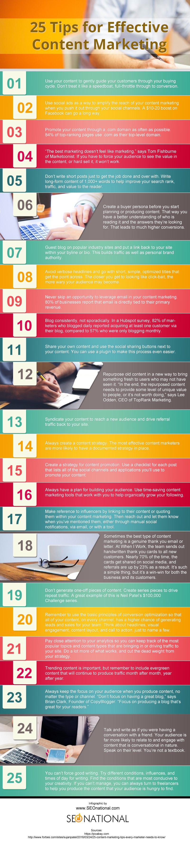 25 Tips for Effective Content Marketing [infographic]