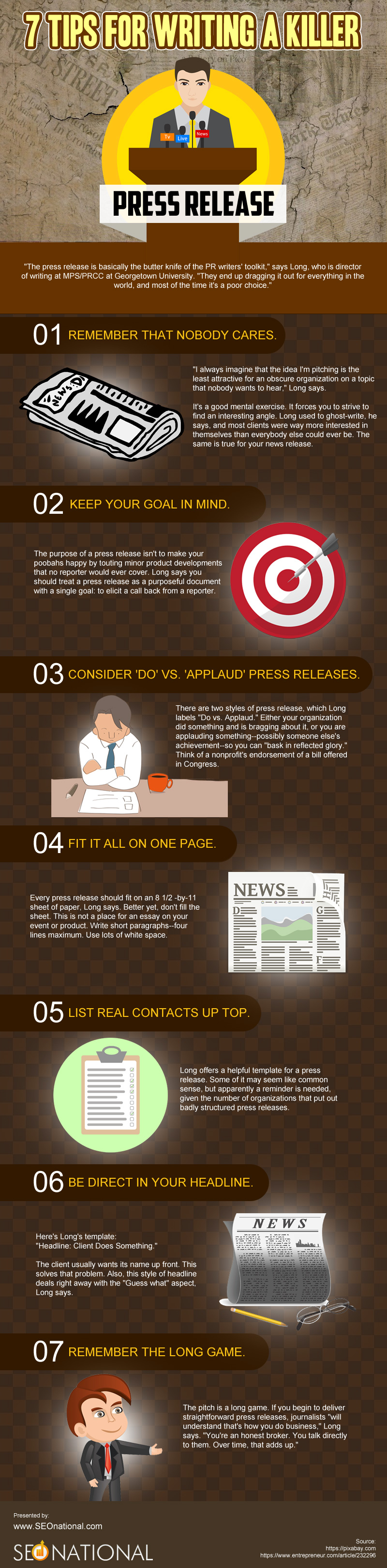 7 Tips for Writing a Killer Press Release [infographic]