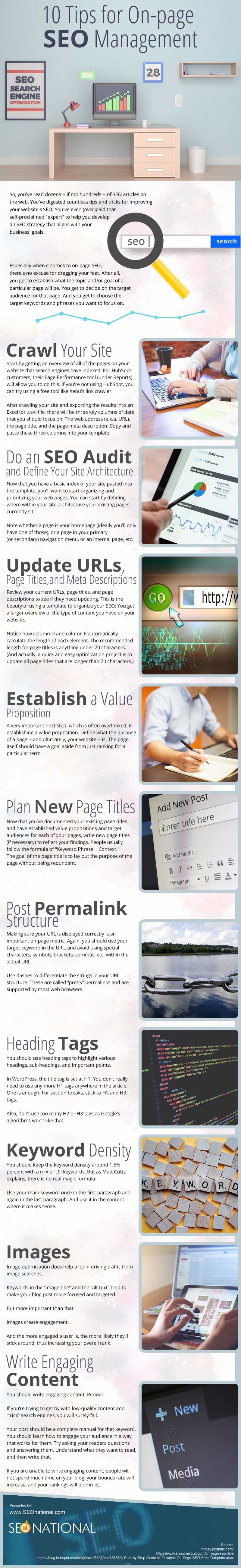 10 Tips for On-page SEO Management [infographic]