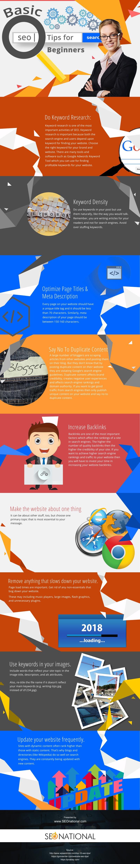 Basic SEO Tips for Beginners [infographic]