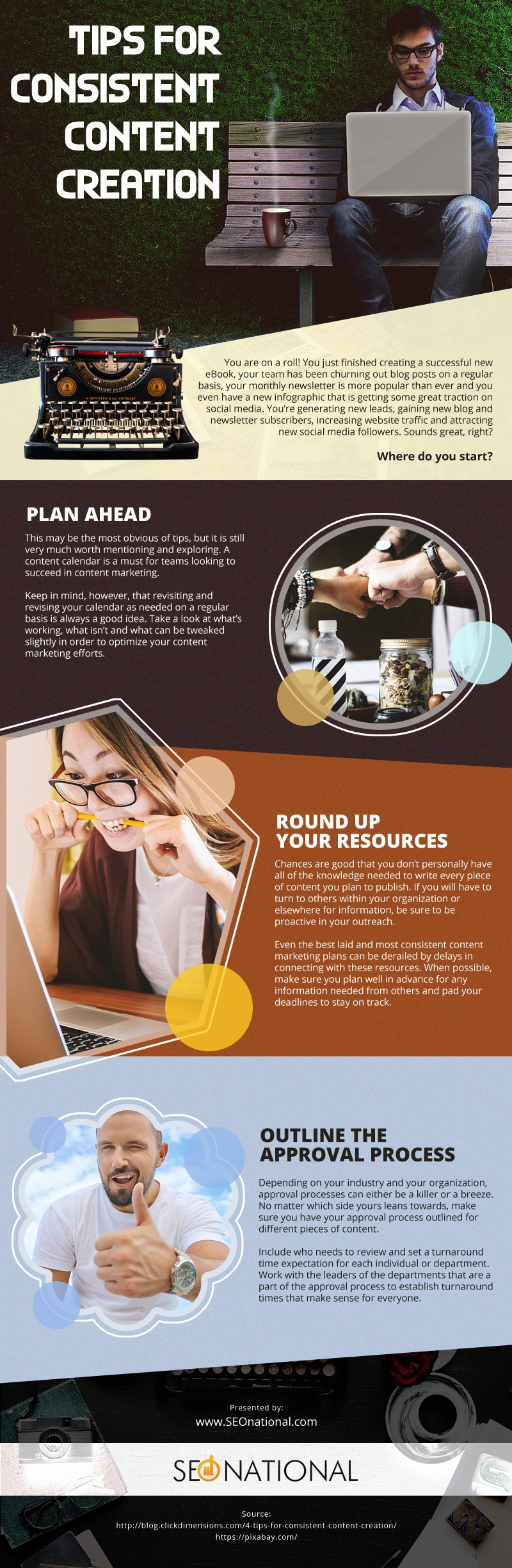 Tips for Consistent Content Creation [infographic]